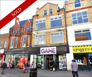 Fantastic town centre 2,648 sq ft retail unit over ground and lower ground floor. Let to Game Retail Ltd at £47,500 pa.