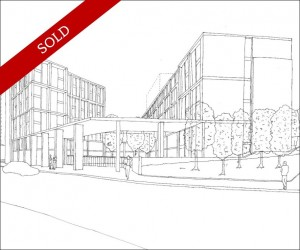 Student re-development site with planning granted for a 348 bed scheme including cluster flats and studios.