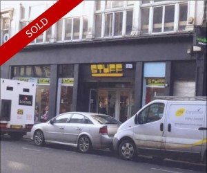 City centre retail investment. 2,475 sq ft ground floor unit let to Stuff 4 U Ltd until 2026 at £50,000 pa.