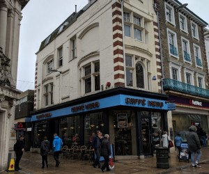 Multi-floor retail unit overlooking Norwich market. Let as Caffé Nero on a 10 year lease at £94,250 pa.
