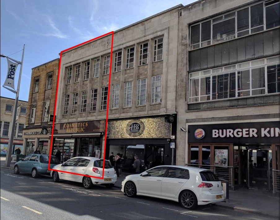 Excellently positioned dual floor retail unit let to hair & beauty retailer for 10 years at £52,000 p.a.