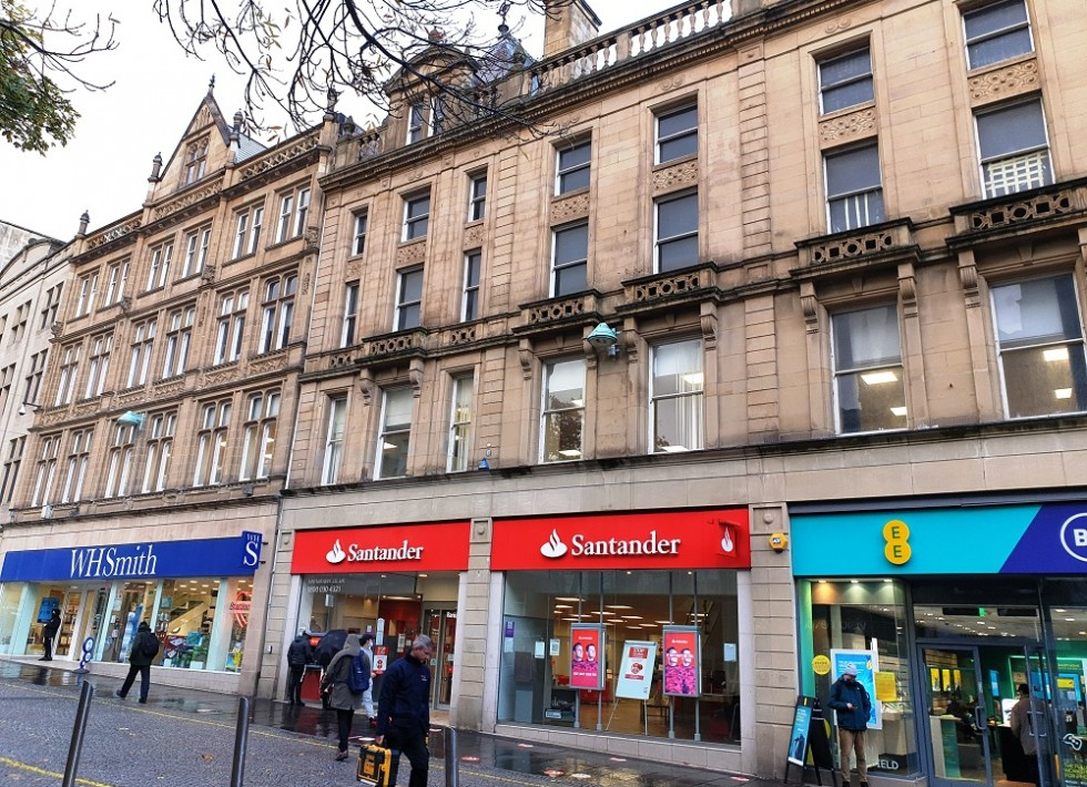 100% prime retail in Sheffield town centre with a brand new five year lease generating £158,000 p.a.